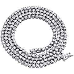 New to our Jewelry For Less collection is this very popular Solitaire round diamond chain. Casted in real 10K White Gold, this chain has a well built frame to withstand daily wear. Solid mounting weighing a total 23.4 gr. of real gold and is...