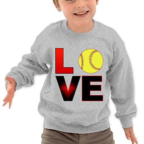 Puppylol Love Baseball Kids Classic Crew-Neck Pullover Hoodie Ash 5-6 Toddler