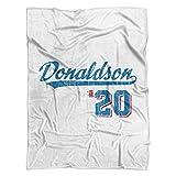 500 LEVEL's Josh Donaldson Soft And Warm Fleece Blanket For Toronto Baseball Fans - Josh Donaldson Script B