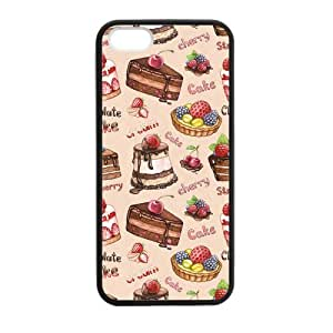 Cake Cherry & Cream Case for iPhone 5 5s protective Durable black case