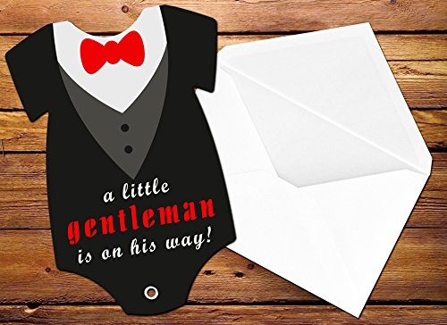 amazon com tuxedo baby shower invitation bow tie and collar
