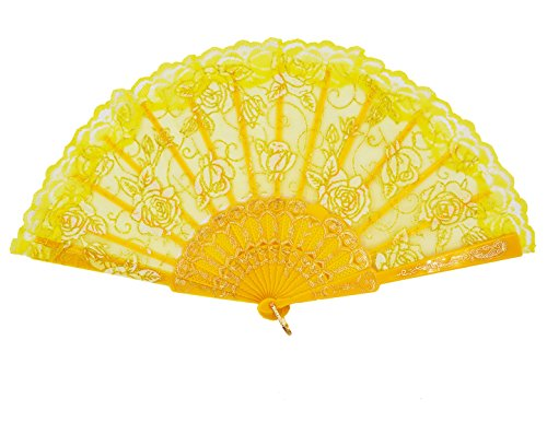 yellow folding fan - 4