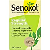 Senokot Natural Vegetable Laxative Ingredient, Tablets, 50 Count