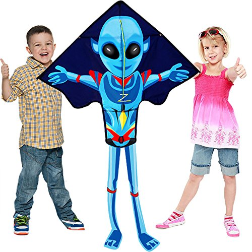HENGDA KITE- Kites For Kids And Adults Large Easy Flyer Mysterious Alien Kites 55Inch X 38Inch With String And Handle