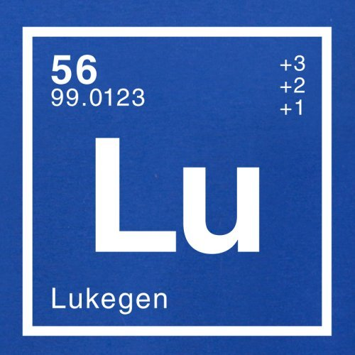Luke Periodensystem - Herren T-Shirt - Royalblau - XXL