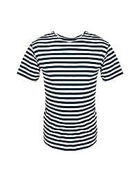 Voentorg Russian Navy Blue Genuine Striped Sailor T-Shirt Telnyashka Top Naval