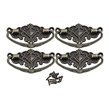 BQLZR L Size Bronze Decorative Drawer Pull Knob European Zinc Alloy Handle Pack Of 4