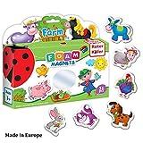 FridgeMagnetsforkidsFarmAnimalssetof31pcs-FoamToddlerMagnets -FarmAnimalToys- 2yearoldGirlToys -MagneticToys -AnimalsToys -FarmToys -2yearoldBoyToys - Educational Toys for Toddlers - ToddlerToys