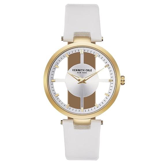 Kenneth Cole Reloj Analógico para Mujer de Cuarzo con Correa en Cuero KC15004015