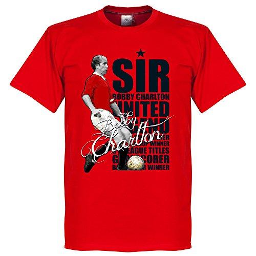 Sir Bobby Charlton Legend–Maglietta Rosso