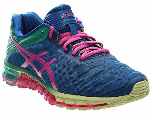 ASICS Women's GEL-Quantum 180 Running Shoe, Snorkle Blue/Pink Glow/Peacock Green, 9 M US (Asics Gel New Treadmill)