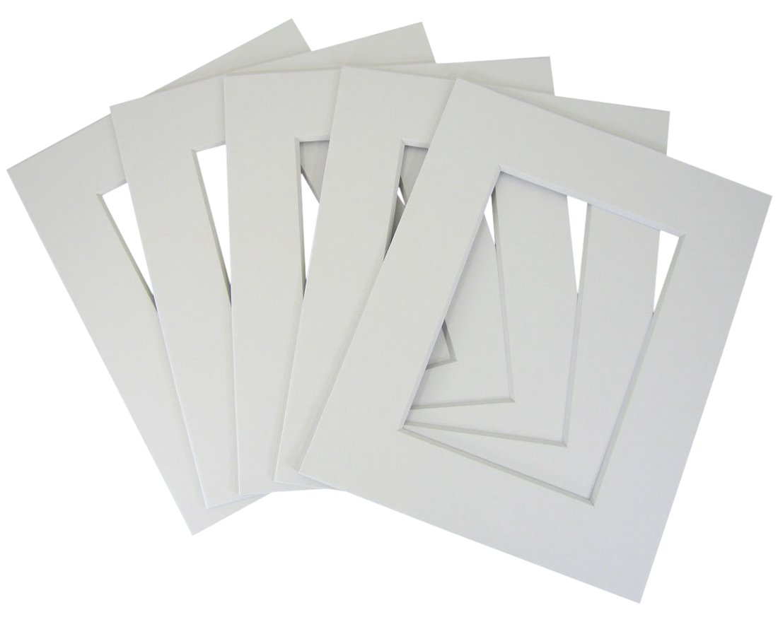 Set of (30) 16x20 8-ply white mat for 11x14 photo w/ Back + bag