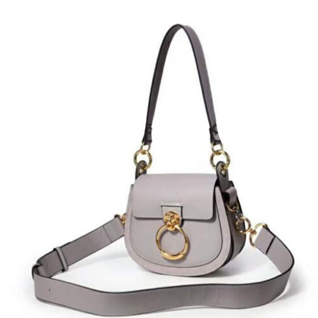 RABILTY Shoulder Bag Tote Bag Shoulder Back Oblique Hanging Bag Womens Cowhide Color : White