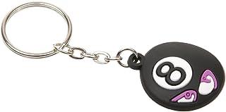Caoutchouc Expression Mignonne Boule Billard Porte-clés Key Chain - Noir 8