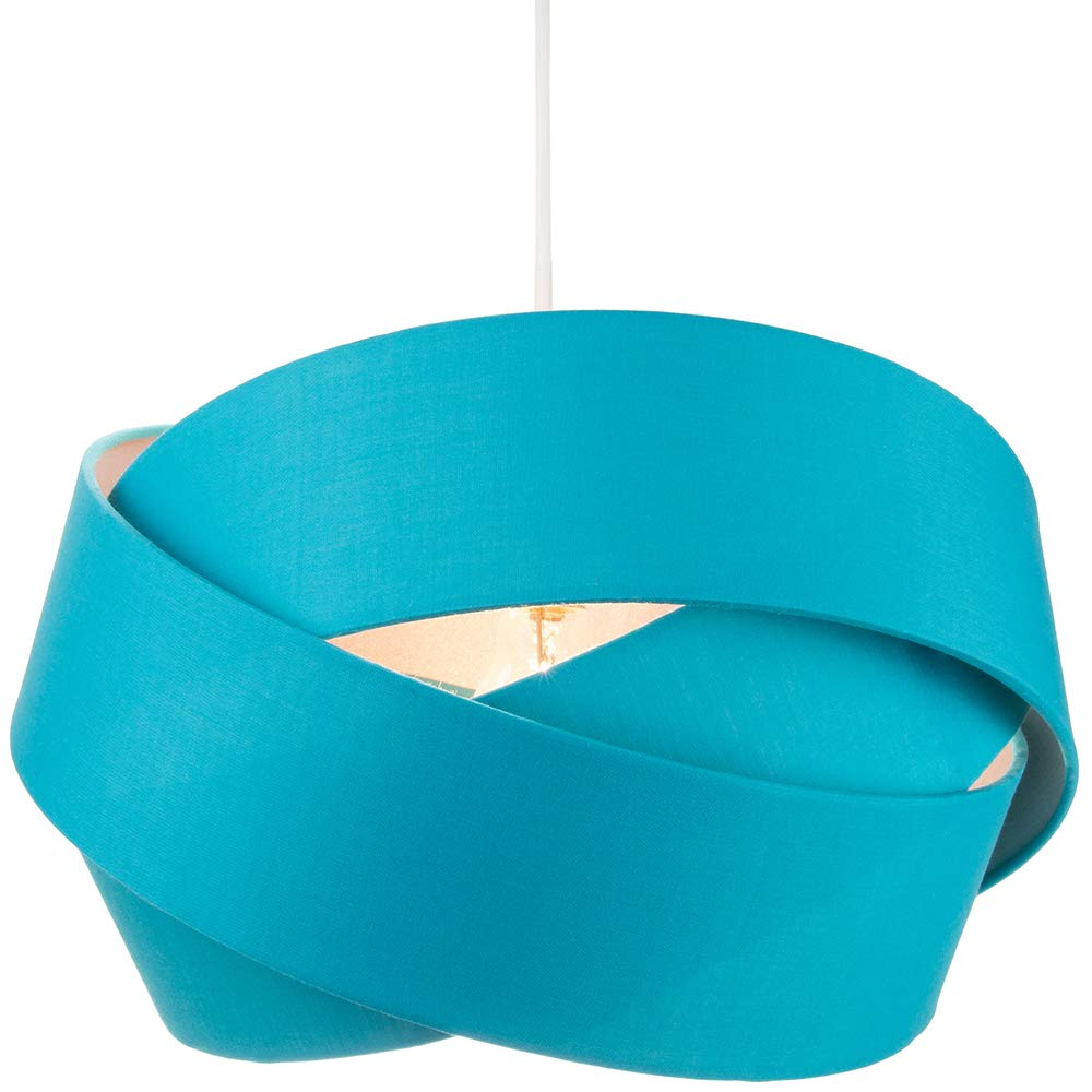 for Table Lamp or Pendant by Happy Homewares Contemporary and Sleek 12 Inch Teal Linen Fabric Drum Lamp Shade 60w Maximum 30cm Diameter