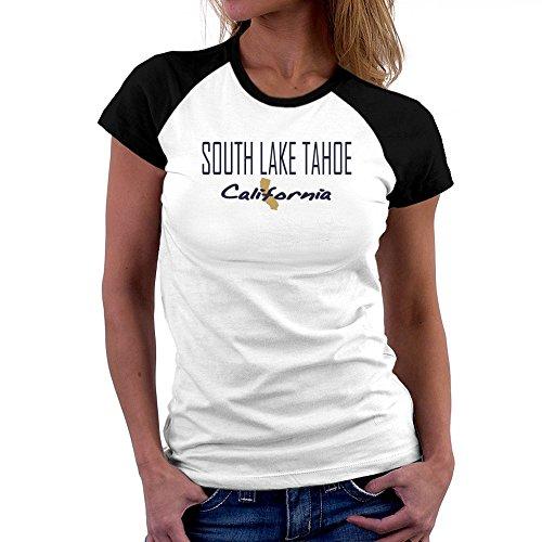 Teeburon South Lake Tahoe State Map Raglan Women - South Lake Tahoe Stores In