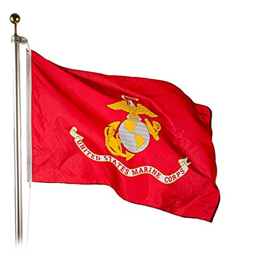 BBI Flags US Marine Corps Flag, 3x5, 100% Made in America, P