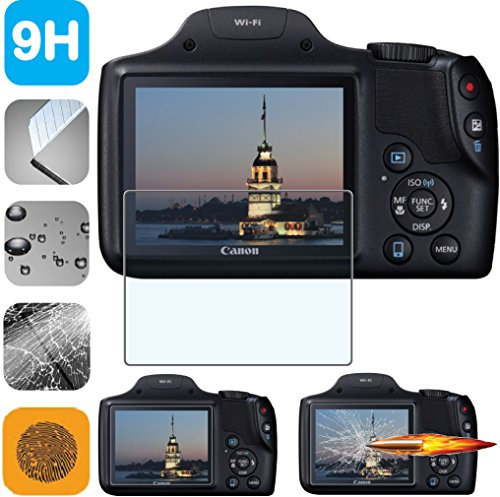Powershot Leather - Guarmor Premium HD Tempered Glass LCD Screen Protector Guard for Canon PowerShot SX530HS SX-530 SX530 HS