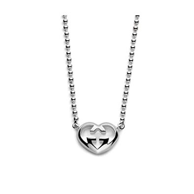 576ce3d98 GUCCI necklace love britt silver adjustable length 40 cm 38 cm, weight 15 g  NEW WARRANTY YBB246486001: Amazon.co.uk: Jewellery