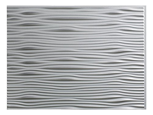 Fasade Easy Installation Waves Argent Silver Backsplash Panel for Kitchen and Bathrooms (18'' x 24'' Panel) by FASÄDE (Image #3)