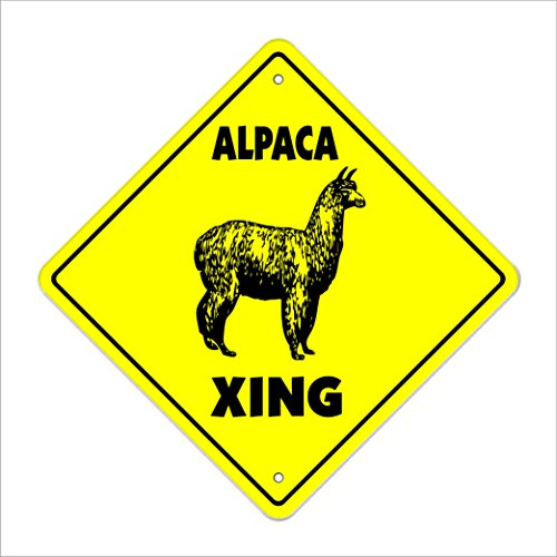 - Alpaca Crossing Sign Zone Xing | Indoor/Outdoor | 14