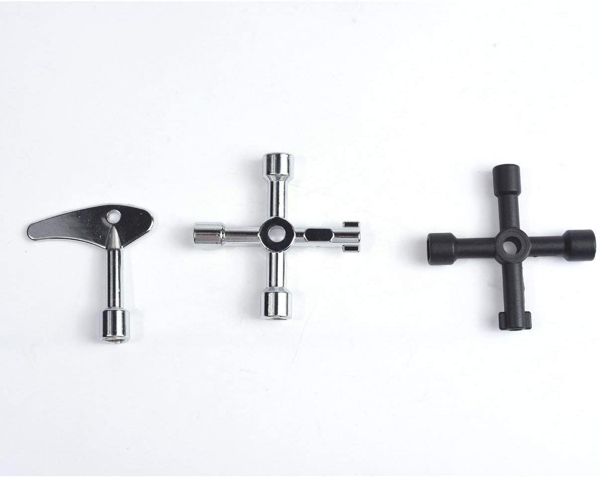Sagladiolus Multifunction Cross Switch Key Wrench Cabinet Square Triangle Wrenches for Elevator Electrical Cupboard Box Black
