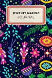 Jewelry making Journal: Cute Floral Dotted Grid
