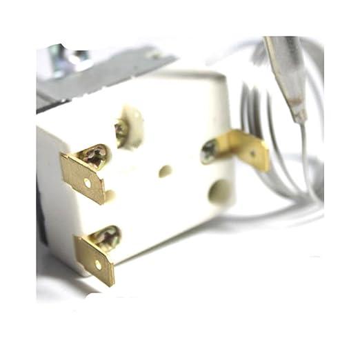 2 m 50 - 300 Degree F nuevo calentador termostato, sartén termostato, control de la temperatura, freidora eléctrica partes: Amazon.es: Hogar