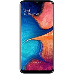 "Samsung Galaxy A20 32GB A205G/DS 6.4"" HD+ 4,000mAh Battery LTE Factory Unlocked GSM Smartphone (International Version, No Warranty) (Deep Blue)"