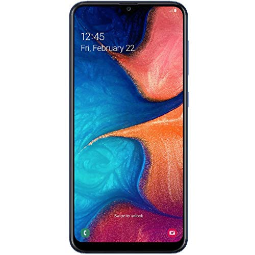 Samsung Galaxy A20 32GB A205G/DS 6.4 HD+ 4,000mAh Battery LTE Factory Unlocked GSM Smartphone (International Version, No Warranty) (Deep Blue)