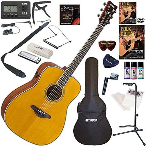 YAMAHA アコースティックギター 初心者 入門 ギターの生音にリバーブ、コーラスをかけられるトランスアコースティックギター ハーモニカも入った最強19点セット FG-TA/VT(ビンテージティント)  VT(ビンテージティント) B0792G1RVP