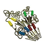 20 PC Dental Patient Bib Clips Chains Napkin Holder Clips Tattoo Chain Clip Assorted Colors