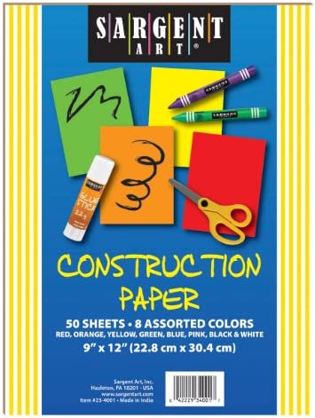 Assorted Colors Sargent Art 23-4098 500 Count Construction Paper