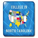 Beverly Turner College in - United States Map, College in North Carolina, Heart and Car, Luggage - Light Switch Covers - double toggle switch (lsp_233561_2)