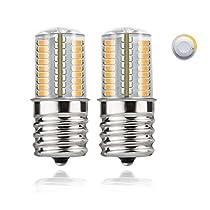 DiCUNO E17 LED Bulb Microwave Oven Light 4 Watt Dimmable Soft White 3000K/Daylight White 6000K 723014SMD AC110-130V (2-Pack)
