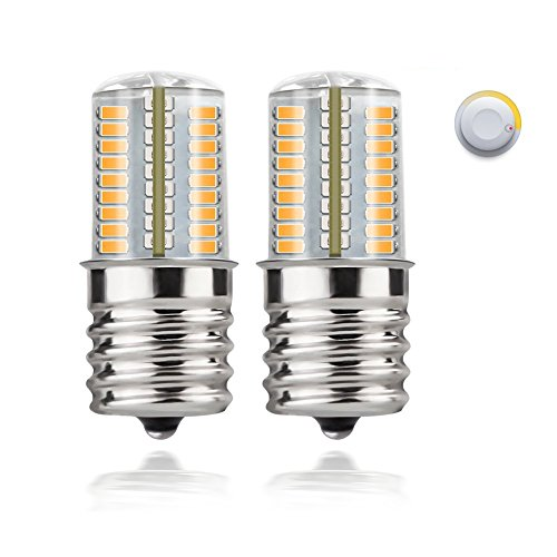 DiCUNO E17 LED Bulb Microwave Oven Light 4 Watt Dimmable Soft White 3000K 723014SMD AC110-130V (2-Pack)