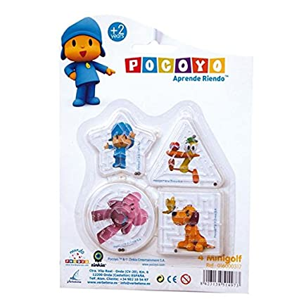 Amazon.com: Pocoyo Blister Pack of 4聽Mini Puzzle Ball Games ...