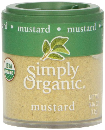 Simply Organic Mustard Seed Ground Certified Organic, .46-Ounce Containers (Pack of 6) by Simply Organic