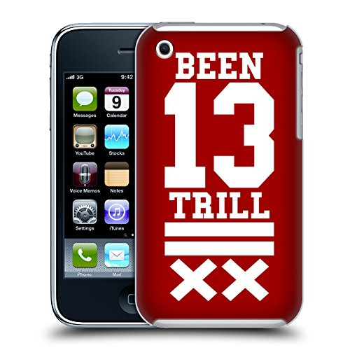 Official Been Trill Red X Jersey Hard Back Case for Apple iPhone 3G / 3GS