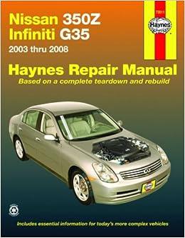 infiniti g35 haynes repair manual pdf