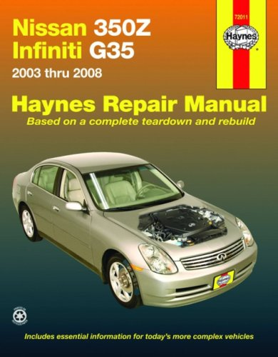 nissan 350z infiniti g35 2003 2008 haynes repair manual rh amazon com 2003 infiniti i35 owners manual 2003 infiniti i35 owners manual