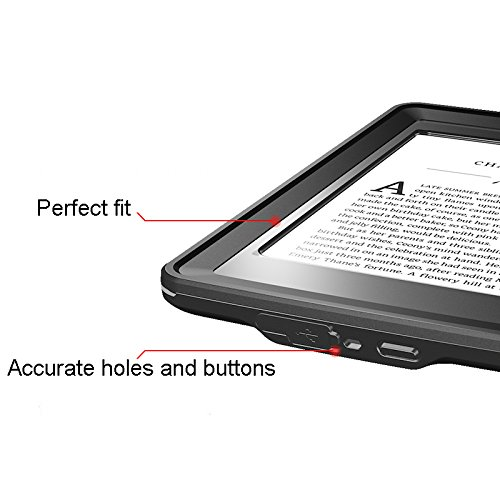 Kindle Paperwhite Case, iThrough Paperwhite Waterproof Underwater E-reader Case, Dustproof, Snowproof, Shockproof Full Sealed Protection Case with Touched Screen for Amazon Kindle Paperwhite by iThrough (Image #2)