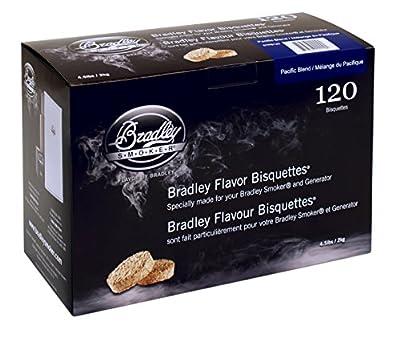 Bradley Smoker BTPB120 Pacific Blend Bisquettes, 120-Pack by Bradley Smoker USA Inc.