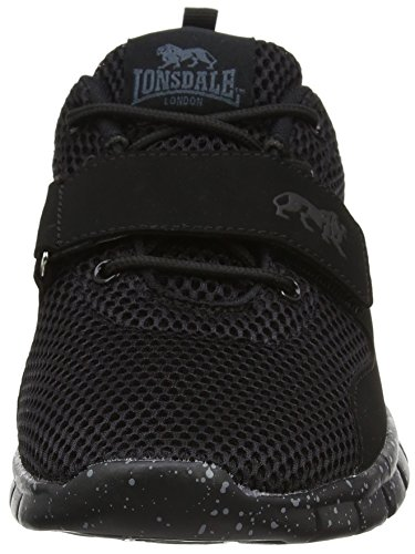 Lonsdale Novas Black LMA480BB Mens Sneakers, Size 10
