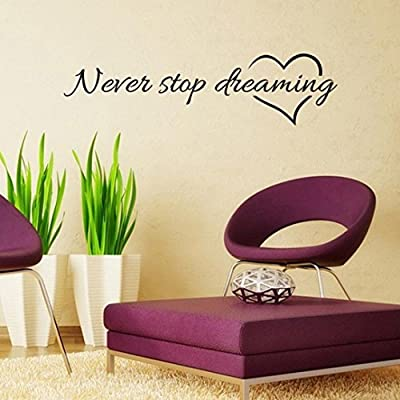 Iuhan Never Stop Dreaming Removable Art Vinyl Mural Home Room Decor Wall Stickers