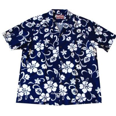 Hawaiian Hibiscus Shirt (RJC Top Quality Hibiscus Hawaiian Aloha Shirt, M, Blue)