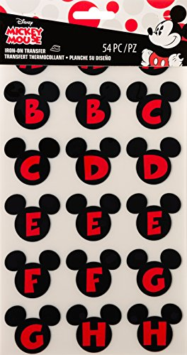 Wrights 1932063001 Iron-On Alphabet Transfer Sheets, Mickey Mouse