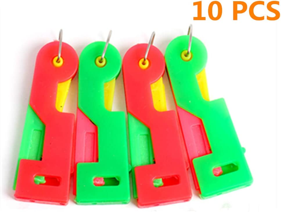 10PC Automatic Threading Device Automatic Threading Needle-Easy to use and Carry Helping to Solve troublesome Threading Problems-Suitable for Young and Old(Colors at Random)