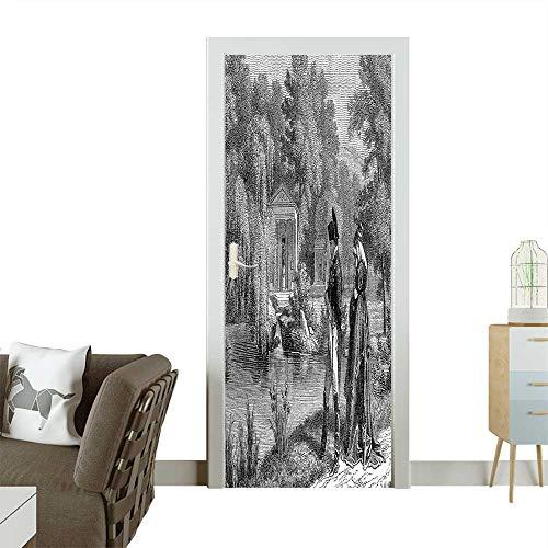 Homesonne Modern Art Door Sticker French Revolution Sketch