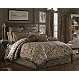 Luxembourg Queen 9-Piece Bedding Ensemble by J Queen, Mink